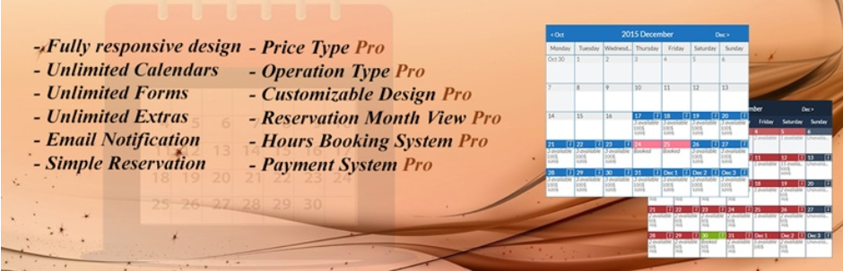 Booking calendar, Booking System, Appointment Booking